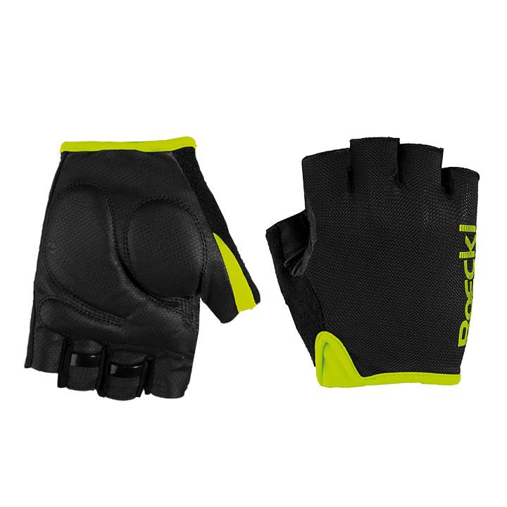 ROECKL Bangor zwart-geel handschoenen, voor heren, Maat 7, Fietshandschoenen, Wi