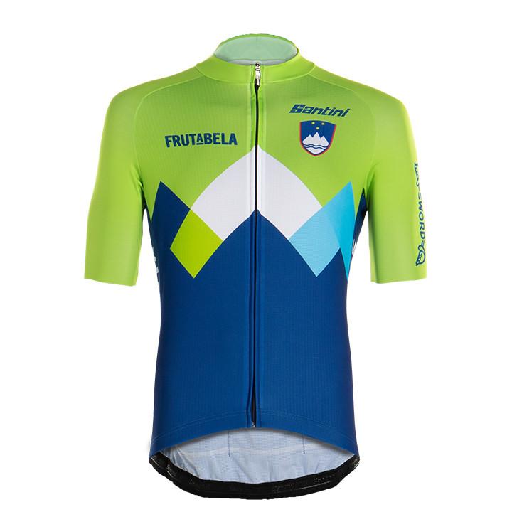 SLOVEENS NATIONAAL TEAM fietsshirt met korte mouwen 2020, voor heren, Maat 2XL,
