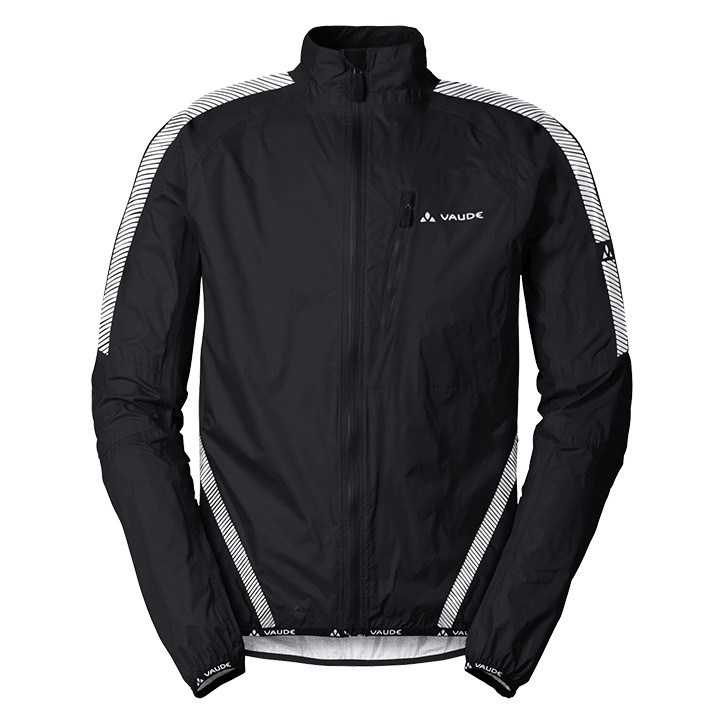 VAUDE Luminum zwart regenjack, voor heren, Maat XL, Regenjas, Regenkleding