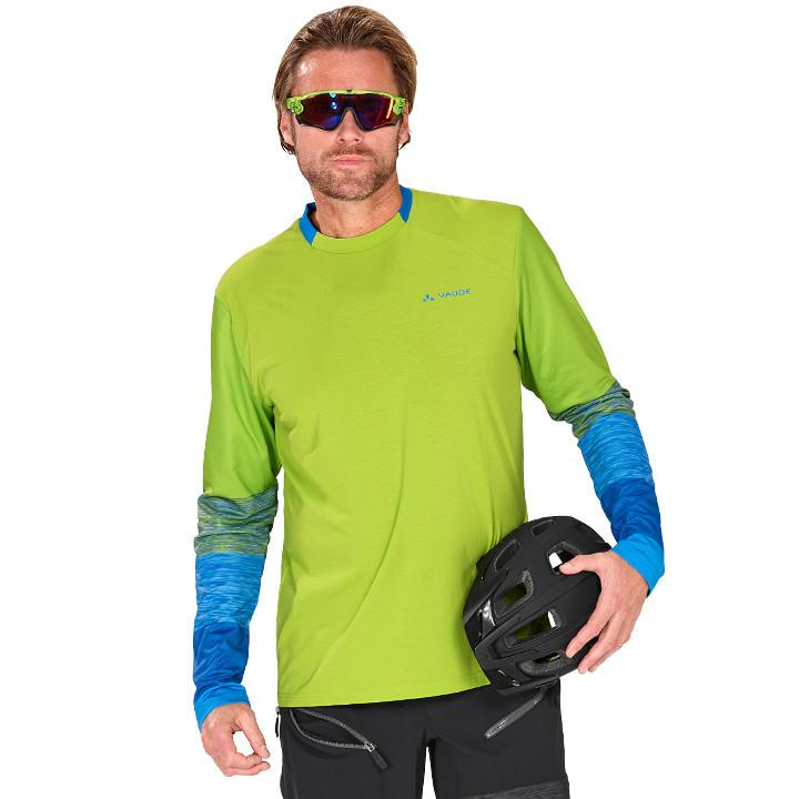 VAUDE met lange mouwen Moab II bikeshirt, voor heren, Maat M, Fietsshirt,