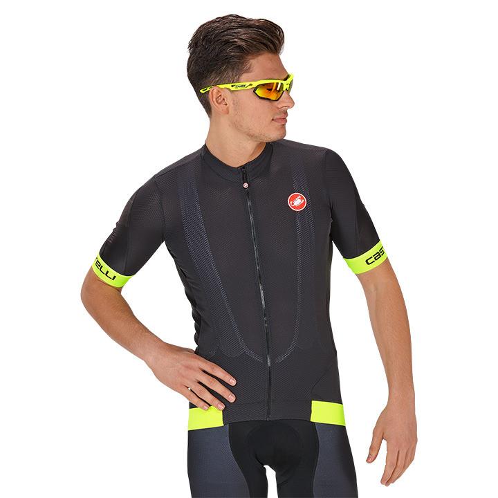 CASTELLI Volata 2 fietsshirt met korte mouwen, voor heren, Maat L, Fietsshirt,