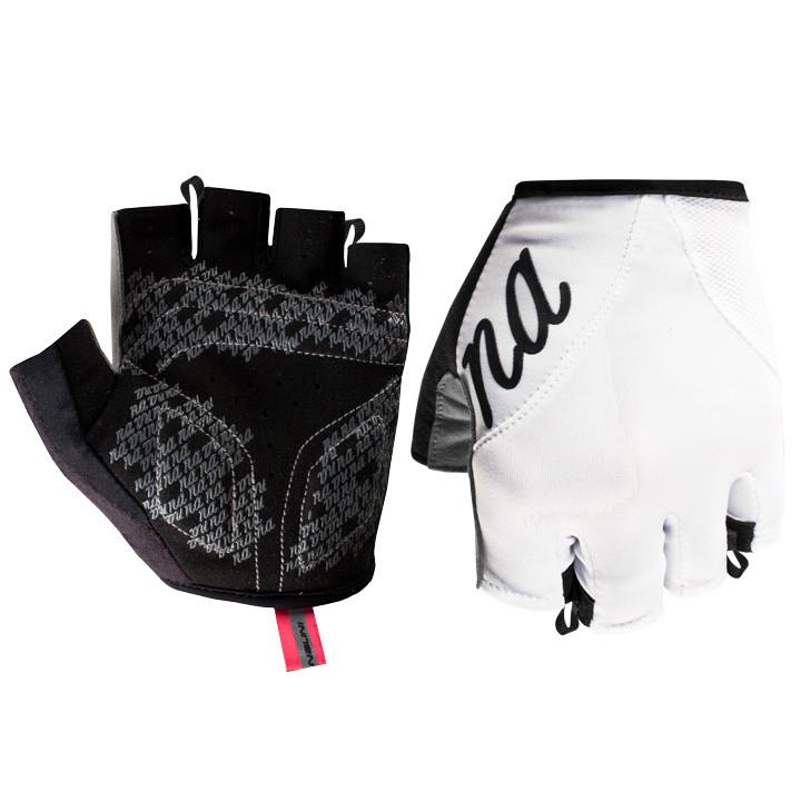 NALINI PRO Pink, wit dameshandschoenen, Maat M, Fietshandschoenen, Fiets kleding