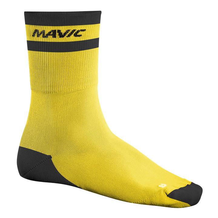 MAVIC Crossmax High geel fietssokken, voor heren, Maat M, Wielerkleding