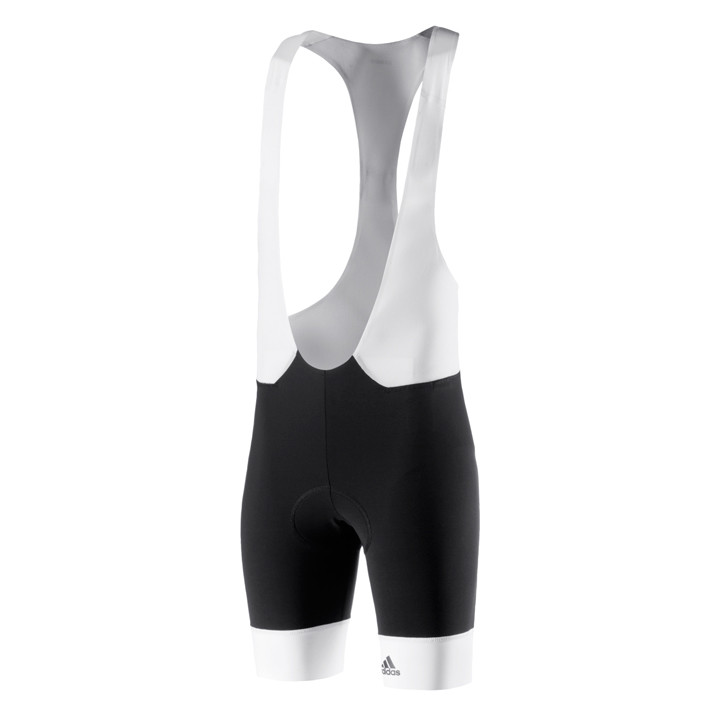 ADIDAS Adistar schwarz-weiß kurze Trägerhose, für Herren, Größe 2XL, Radlerhose,