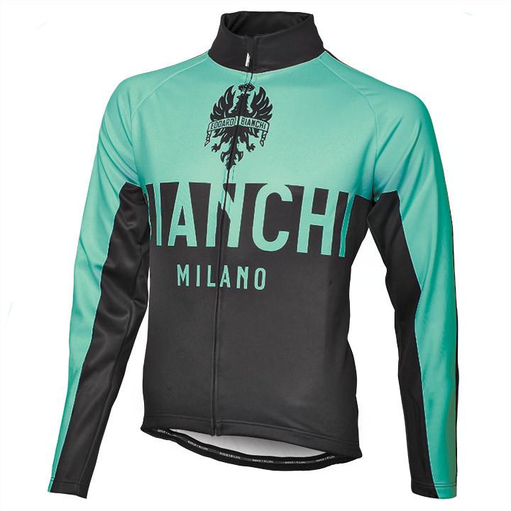 BIANCHI MILANO winterjack Zanica celeste-zwart Thermojack, voor heren, Maat M, F