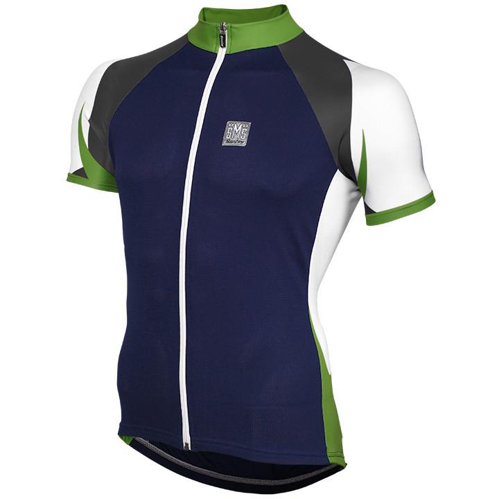 SANTINI Free, blauw-groen fietsshirt met korte mouwen, voor heren, Maat S, Wielr