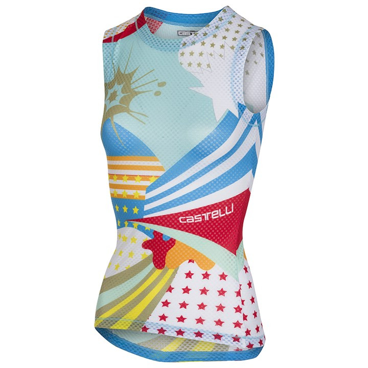 CASTELLI Dames-fietsonderhemd zonder mouwen Pro Mesh dames onderhemd, Maat XS, O