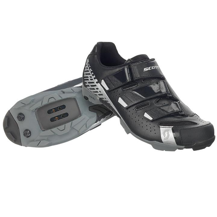 SCOTT Comp RS 2018 zwart-zilver MTB-schoenen, voor heren, Maat 41, Mountainbike