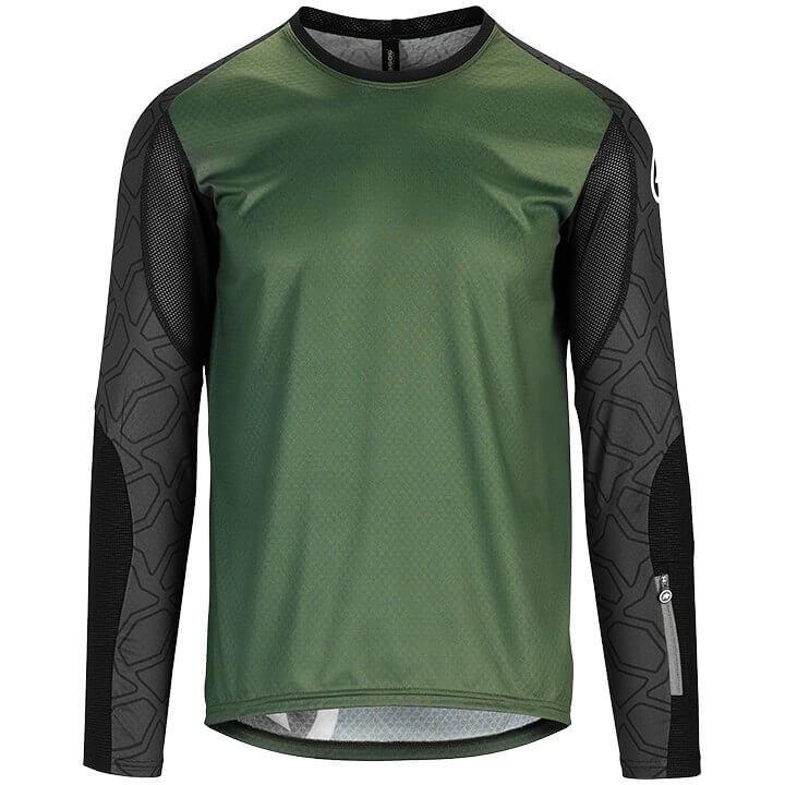 ASSOS Fietsshirt met lange mouwen Trail bikeshirt, voor heren, Maat L, Fietsshir