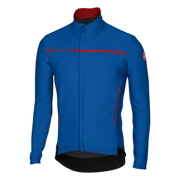CASTELLI Perfetto blauw Light Jacket, voor heren, Maat XL, Wielerjack,