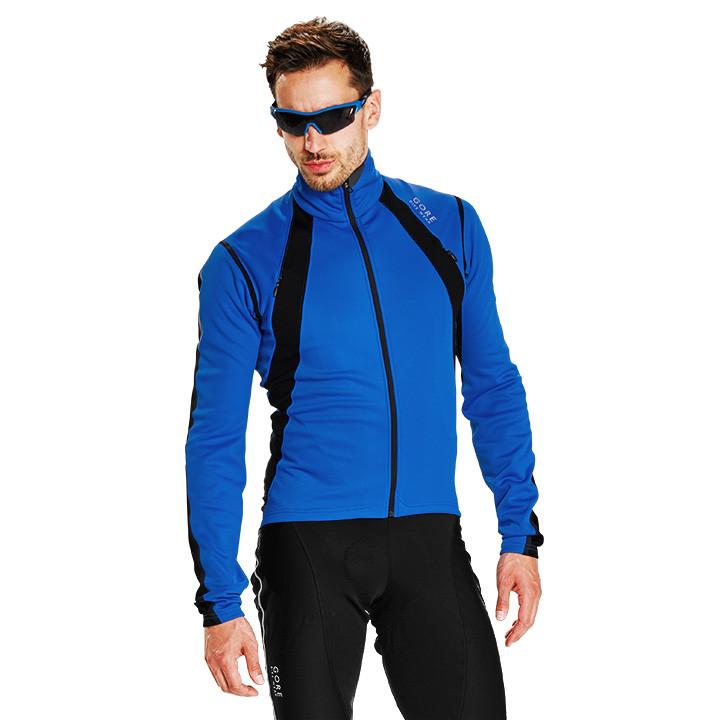 GORE winterjack Oxygen GWS blauw-zwart Thermojack, voor heren, Maat M, Fietsjas,