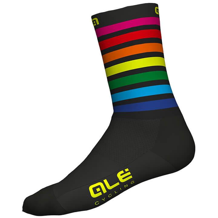 ALÉ Fietssokken Rainbow fietssokken, voor heren, Maat S, Fiets kleding