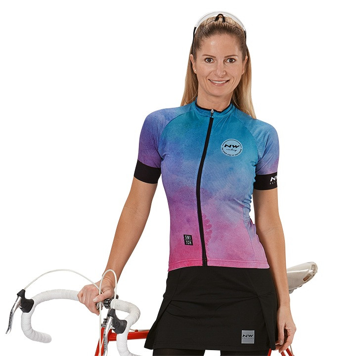 NORTHWAVE Damesshirt Acquerello damesfietsshirt, Maat XL, Wielershirt,