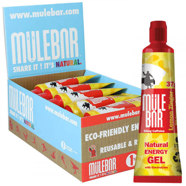 MULEBAR Energie Gel Kicks Lemon Zinger 24Stck./Karton