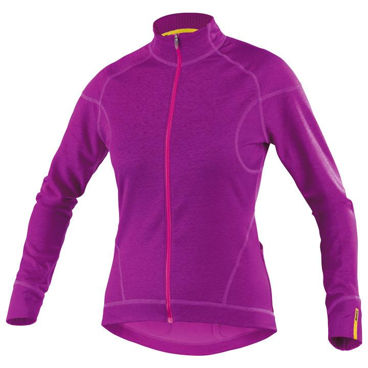 MAVIC dames shirt met lange mouwen Ksyrium Elite lila damesfietsshirt met lange