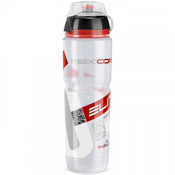 Bidon Maxicorsa VTT 950 ml, transparent-rouge