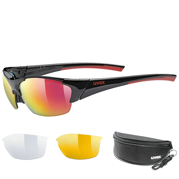 UVEX Brillenset Blaze III 2020 bril, Unisex (dames / heren), Sportbril, Fietsacc