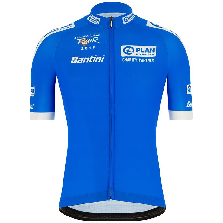 DEUTSCHLAND TOUR fietsshirt blauw 2019 Leader of the mountain, voor heren, Maat