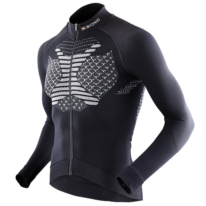 X-BIONIC shirt met lange mouwen Twyce zwart-wit fietsshirt met lange mouwen, voo