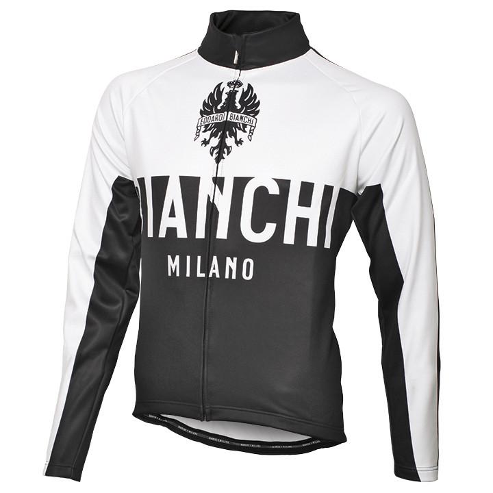 BIANCHI MILANO winterjack Zanica wit-zwart Thermojack, voor heren, Maat M, Fiets