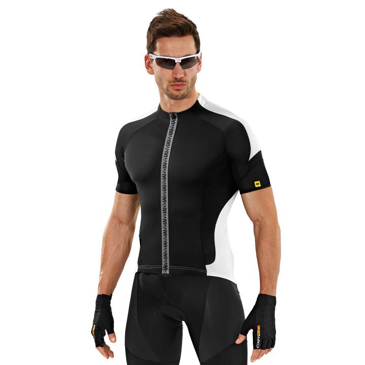 MAVIC Cosmic Pro, zwart-wit fietsshirt met korte mouwen, voor heren, Maat 2XL, W