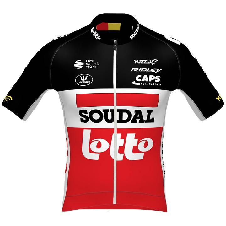 Lotto Soudal PRR 2020 fietsshirt met korte mouwen, voor heren, Maat S, Fietsshir