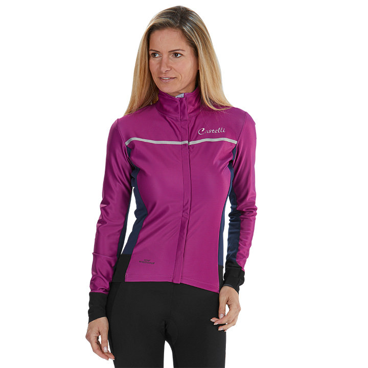CASTELLI Dames-Trasparente 3 Light Jacket, Maat S, Fiets jack, Wielerkleding