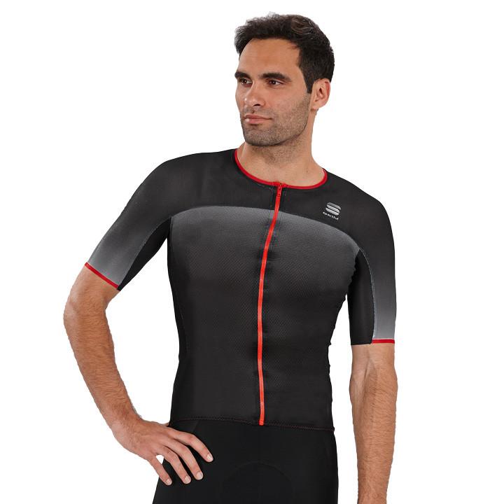 SPORTFUL shirt met korte mouwen R&D Ultralight zwart fietsshirt met korte mouwen