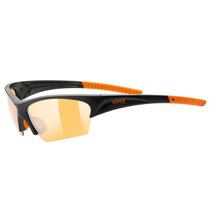 UVEX fietsbril Sunsation mat zwart-oranje sportbril, Unisex (dames / heren),