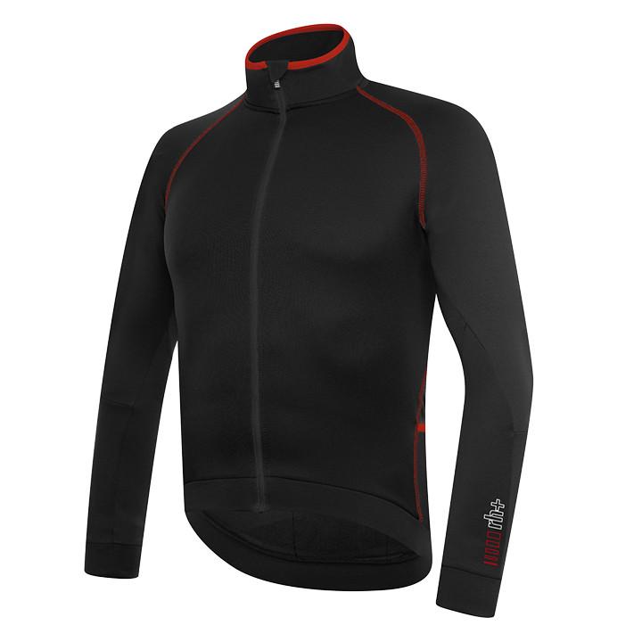 rh+ shirt met lange mouwen Zero zwart-rood fietsshirt met lange mouwen, voor her