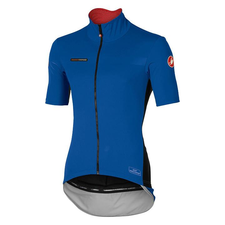 CASTELLI met korte mouwen Perfetto Light blauw Light Jacket, voor heren, Maat S,