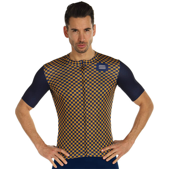 SPORTFUL Shirt met korte mouwen Checkmate fietsshirt met korte mouwen, voor here