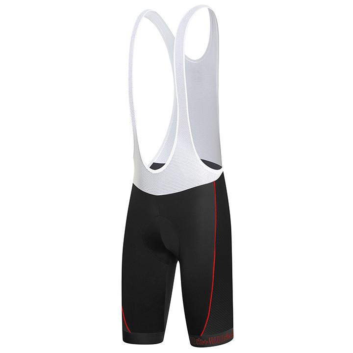 rh+ korte broek met bretels Zero zwart-antraciet-rood korte koersbroek, voor her