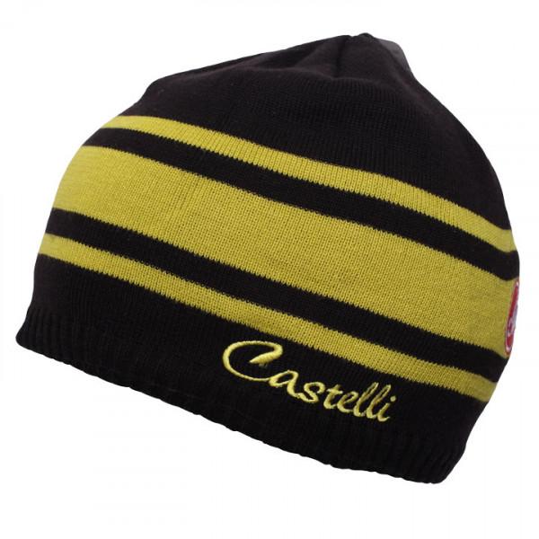 Bonnet hiver femme Campiglio noir-jaune néon