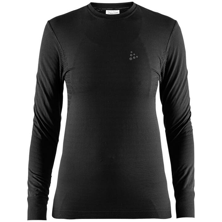 CRAFT Damesfietsonderhemd met lange mouwen Warm Comfort, Maat M, Onderhemd,