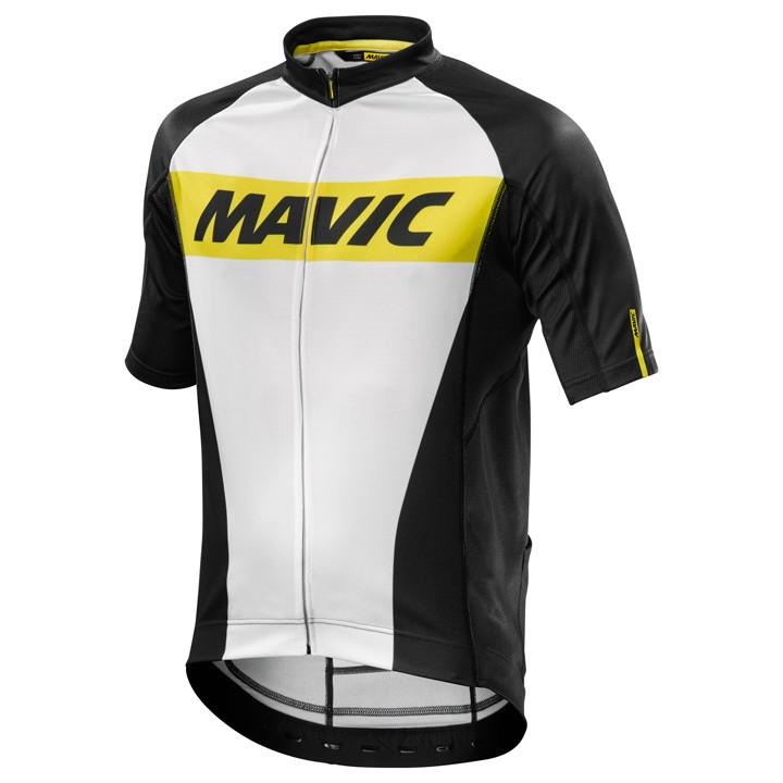 MAVIC shirt met korte mouwen Cosmic wit-zwart fietsshirt met korte mouwen, voor