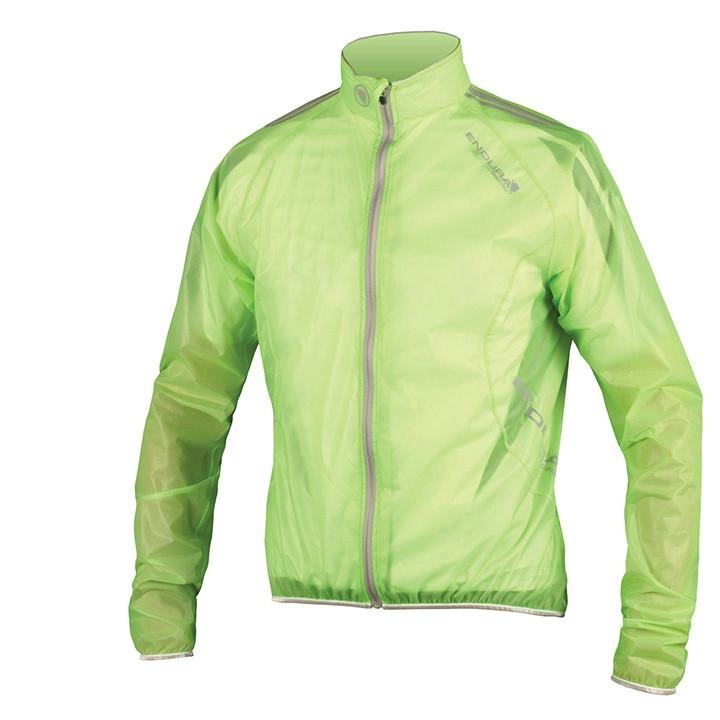 ENDURA regenjack PRO Adrenalin Race Cape groen cap, voor heren, Maat 2XL,