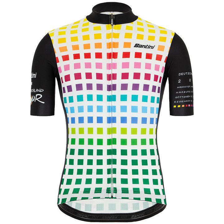 DEUTSCHLAND TOUR 2019 Stage fietsshirt met korte mouwen, voor heren, Maat 2XL, F