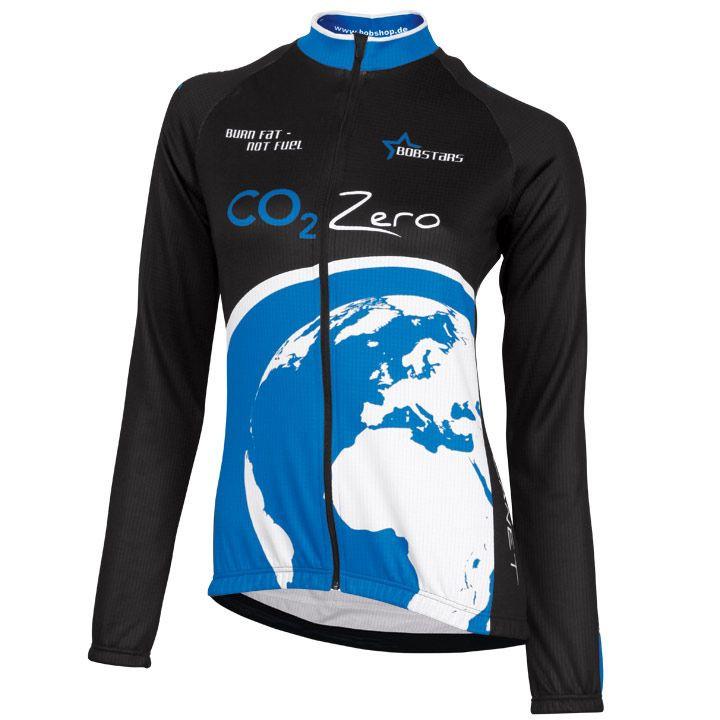 Fietsshirt, BOBSTARS damesjersey met lange mouw CO² Zero fietsshirt met lange mo