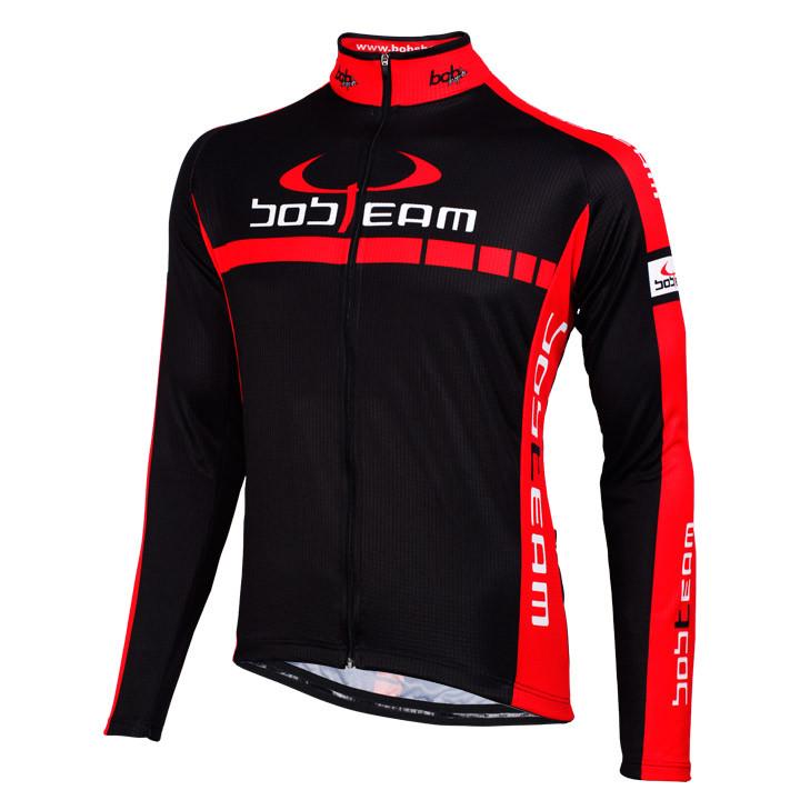 Wielershirt, BOBTEAM Colors fietsshirt met lange mouwen, voor heren, Maat 2XL, W