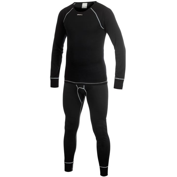CRAFT ondergoedset Keep Warm Multi 2-pack, zwart, voor heren, Maat XL, Onderhemd