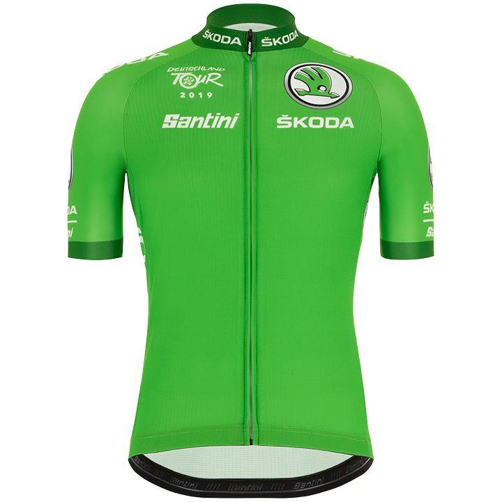 DEUTSCHLAND TOUR fietsshirt groen 2019 Best Sprinter fietsshirt met korte mouwen