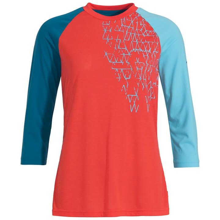 VAUDE Damesmet lange mouwen Moab III bikeshirt, Maat 36, Fiets shirt, Wielrenkle