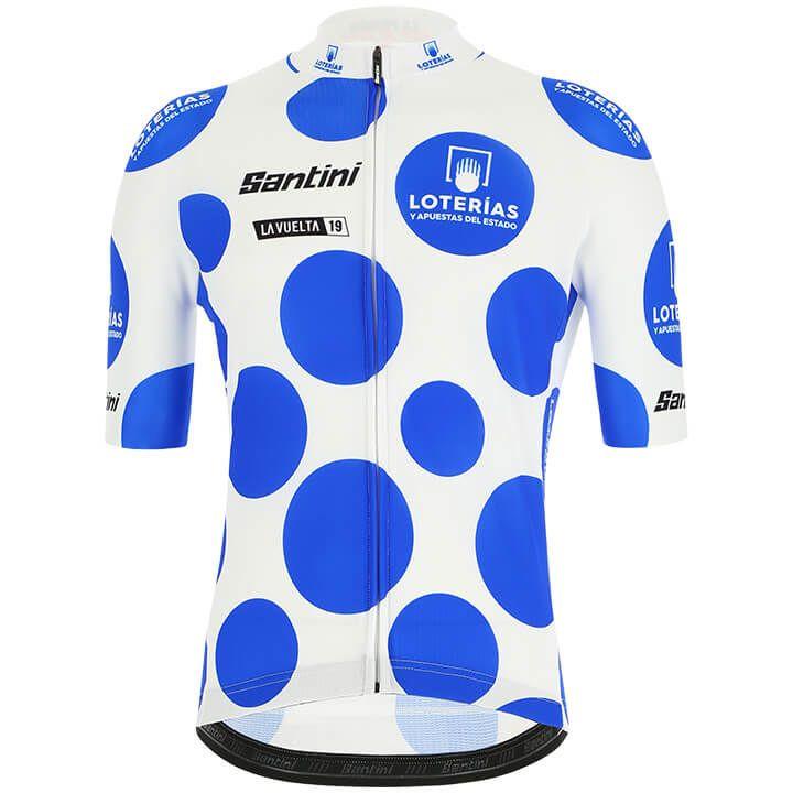 La Vuelta 2019 fietsshirt Bolletjestrui, voor heren, Maat 2XL, Fiets shirt, Wiel