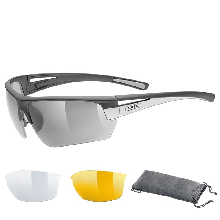 UVEX Brillenset Gravic 2020 bril, Unisex (dames / heren), Sportbril, Fietsaccess