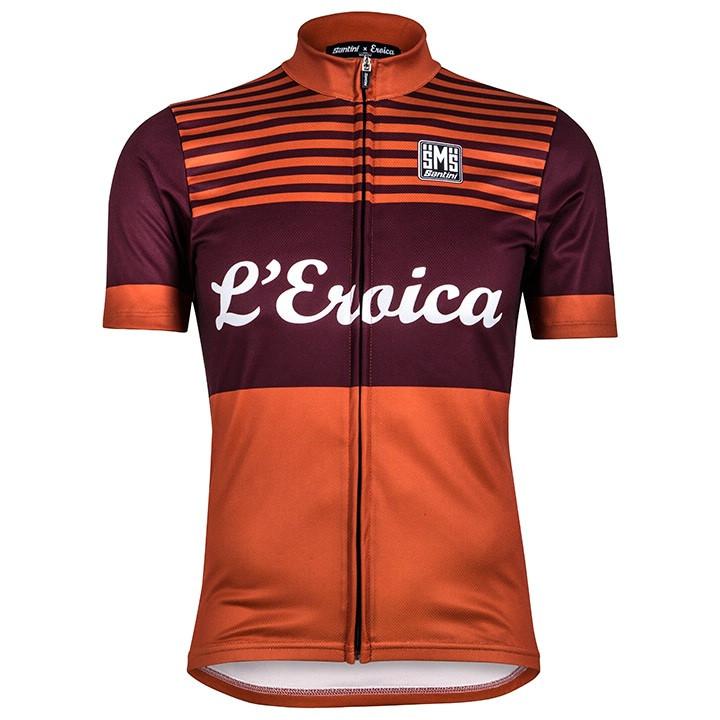 SANTINI shirt met korte mouwen Eroica Chianti fietsshirt met korte mouwen, voor