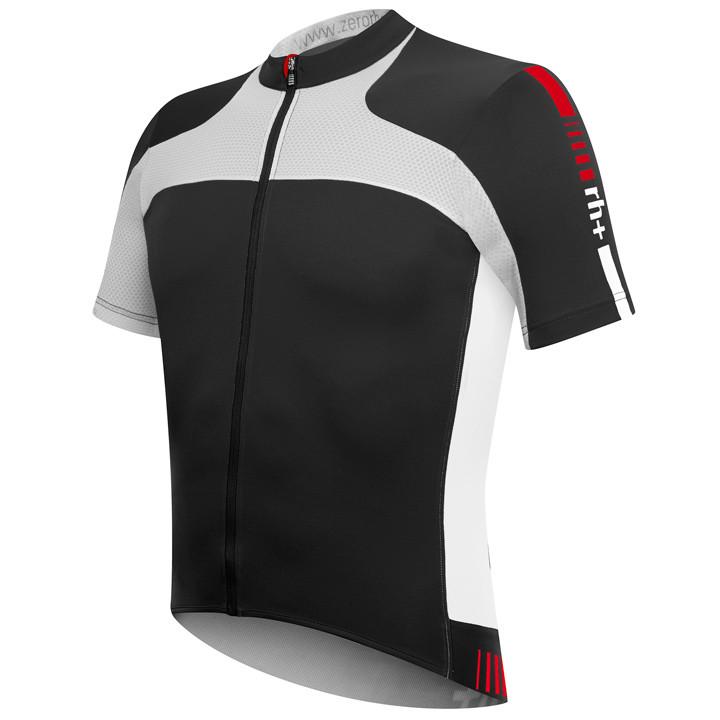 RH+ Agility, zwart-wit fietsshirt met korte mouwen, voor heren, Maat M, Fietsshi
