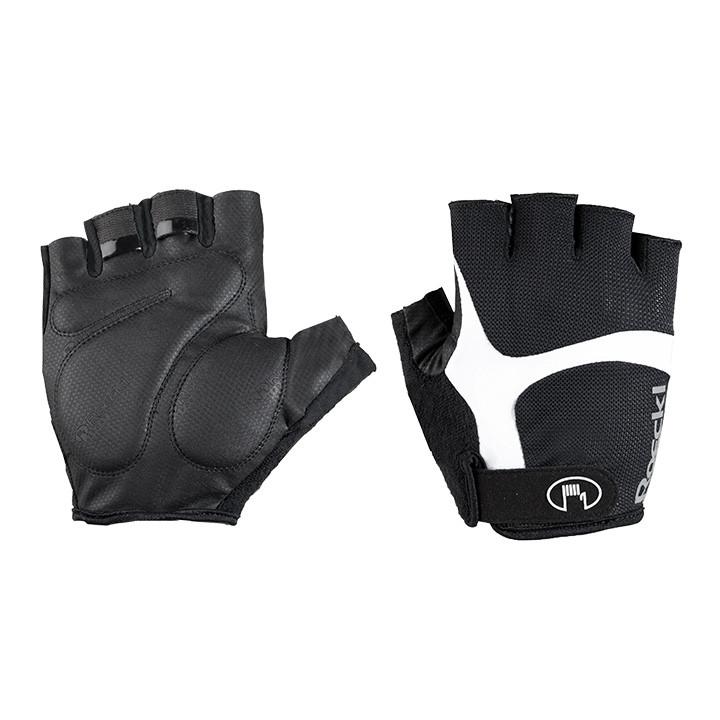 ROECKL Badi zwart-wit handschoenen, voor heren, Maat 8, Wielerhandschoenen, Wiel