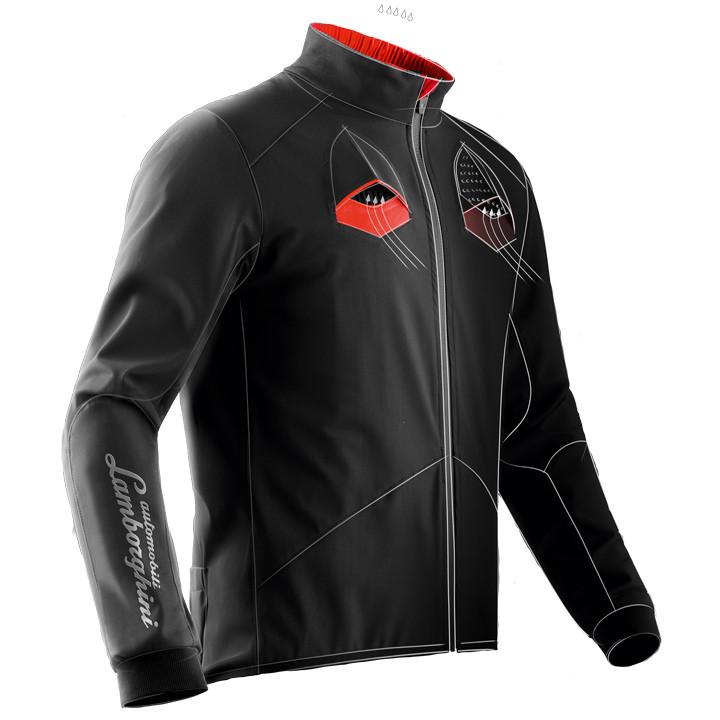 X-BIONIC LAMBORGHINI Ltd. Edition, zwart-rood fietsjack, voor heren, Maat M, Fie