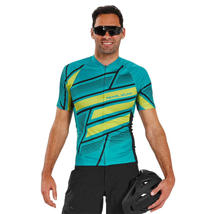 PEARL IZUMI LTD Block Viridian Green groen-zwart bikeshirt, voor heren, Maat XL,